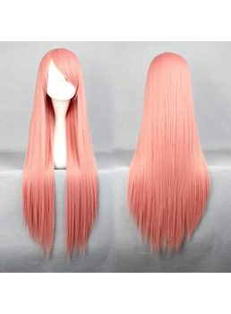 Lotty Hairstyle Long Straight Pink Cosplay Wig 30 Inches