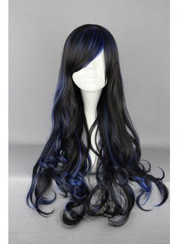 Japanese Lolita Style Mixed Color Long Wave Cosplay Wigs