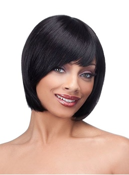 Charming and Beautiful Short Straight Synthetic Side Bang Wigs