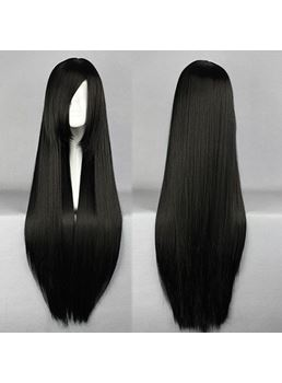 Shana Hairstyle Long Straight Black Cosplay Wigs 30 Inches