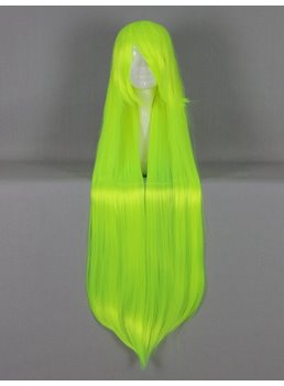 Versatile Long Straight Bright Green Cosplay Wig 30 Inches