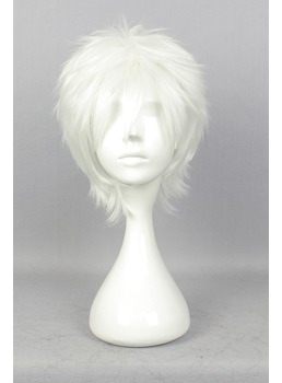 Gin Tama Short Straight White Synthetic Hair Cosplay Wigs