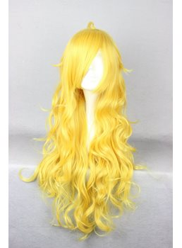 Yang Xiao Long Hairstyle Long Curly Yellow Cosplay Wig 30 Inches