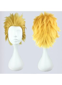 Fate Zero Archer Hairstyle Short Spiky Straight Synthetic Cosplay Wig 12 Inches