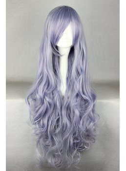 Super Long Curly Light Purple Synthetic Hair Cosplay Wigs 36 Inches