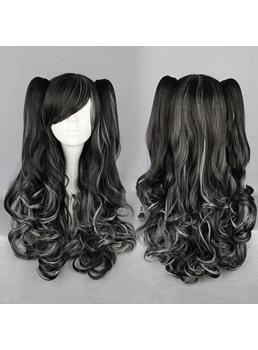 Japanese Lolita Style Mixed Color 150% Density Cosplay Wigs 28 Inches