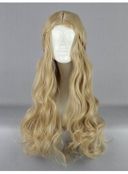 Princess Aurora Long Deep Wave Hairstyle Flaxen Cosplay Wig 28 Inches