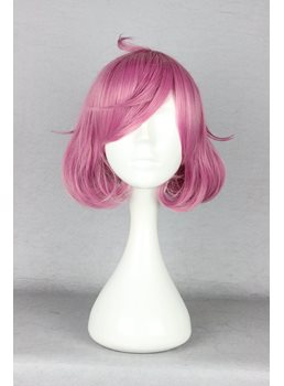Charming Bob Hairstyle Mixed Pink Cosplay Wig 10 Inhces