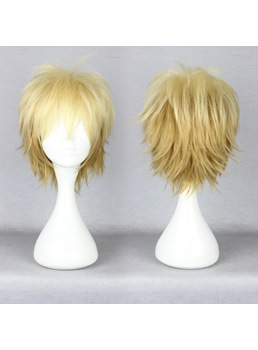 Handsome Short Layered Straight Mixed Color Cosplay Wig 10 Inches