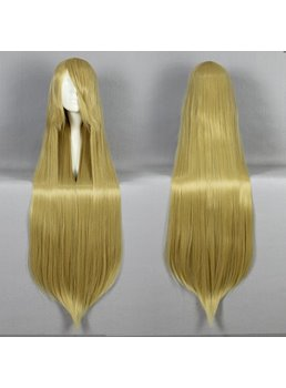 Long Straight Golden Cosplay Wig 30 Inches