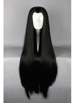 Top Quality Long Straight Black Cosplay Wig 30 Inches