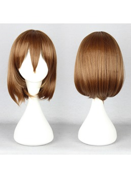 Pupa Hairstyle Long Straight Mixed Brown Cosplay Wig 14 Inches