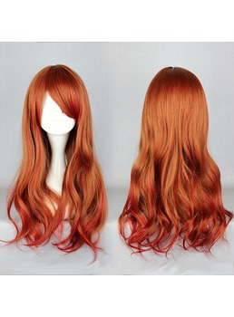 Japanese Lolita Style Gradient Color Brown Cosplay Wigs 26 Inches