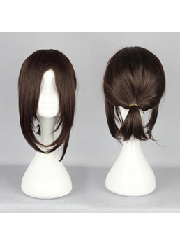 Japanese Shingeki no Kyojin Series Hans Zoe Dark Brown Cosplay Wigs 14 Inches