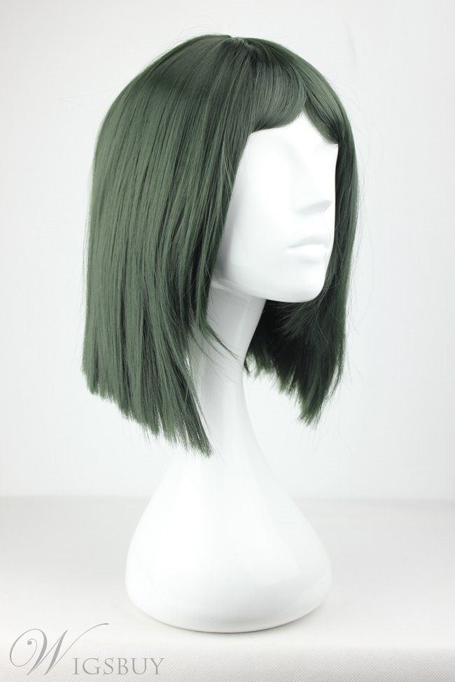 Fate Zero Medium Straight Green Synthetic Hair Cosplay Wigs