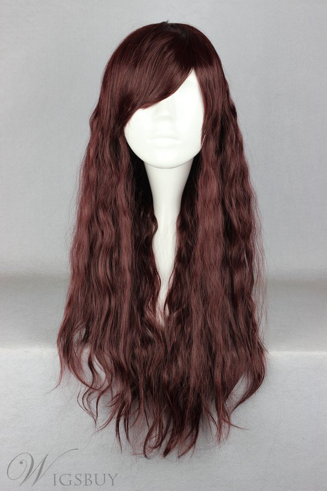 Japanese Lolita Style Long Wave Chocolate Cosplay Wigs 28 Inches