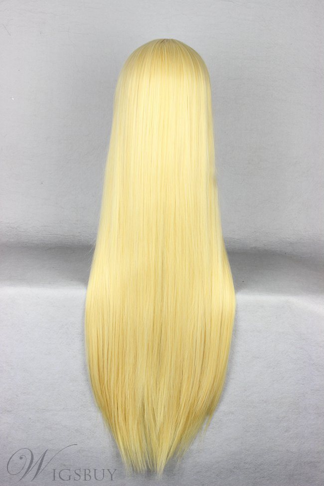 Long Straight Golden Cosplay Wigs 30 Inches