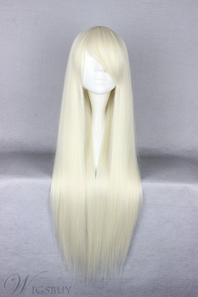 Top Quality Long Straight Versatile Synthetic Cosplay Wig 30 Inches