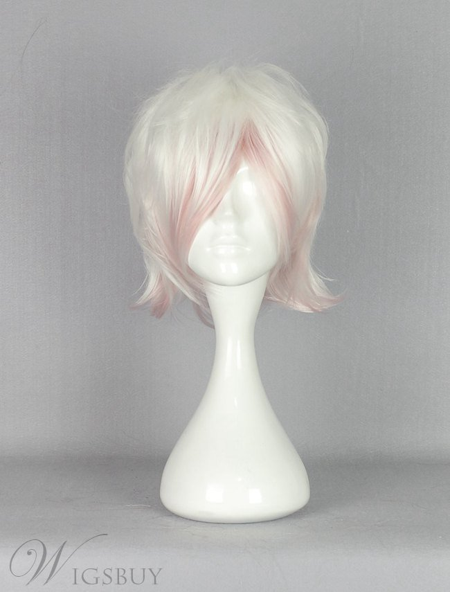 Diabolik Lovers White Pink Mixed Synthetic Hair Cosplay Wig