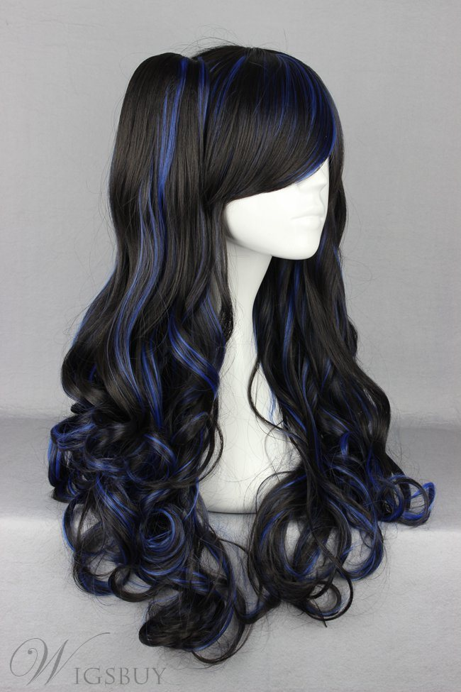 Japanese Lolita Style Mixed Color Cosplay Wigs 28 Inches
