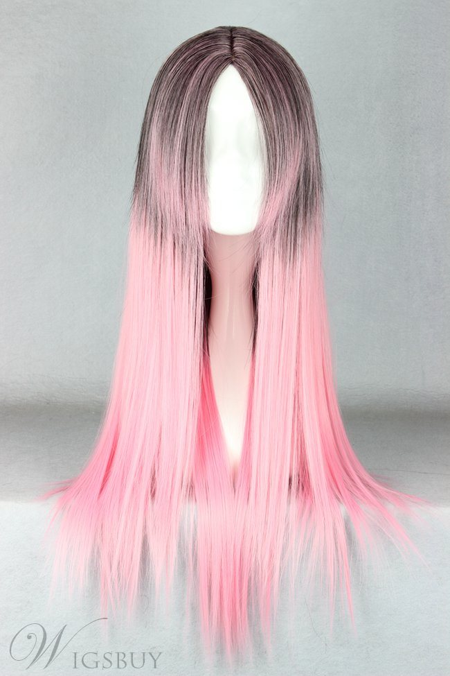 Japanese Lolita Style Gradient Color Cosplay Wigs 26