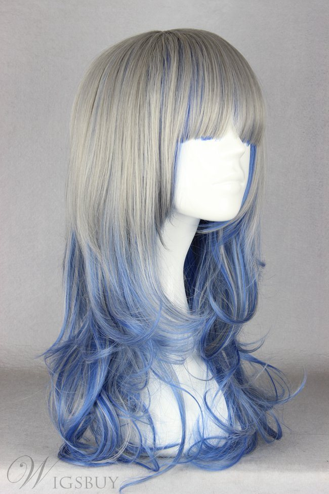 Japanese Lolita Style Gradient Color Long Wave Cosplay