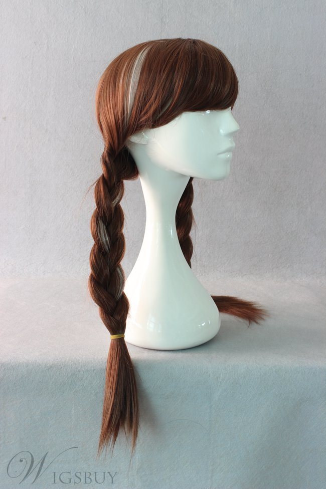 Princess Anna Braided Hairstyle Cosplay Wig 22 Inches ...