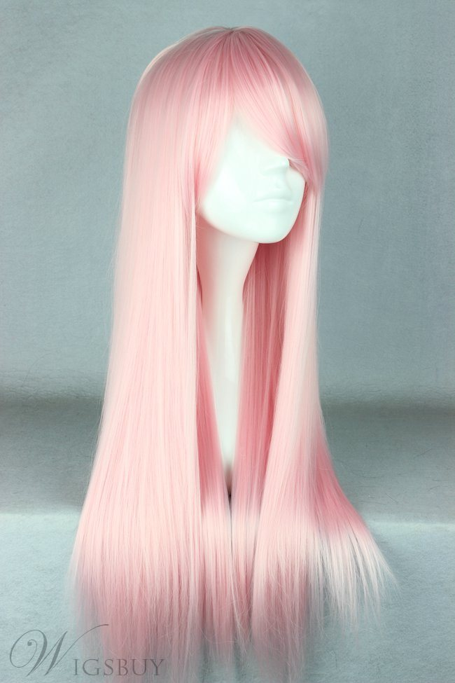 Japanese Lolita Style Ice Pink Cosplay Wigs 28 inches