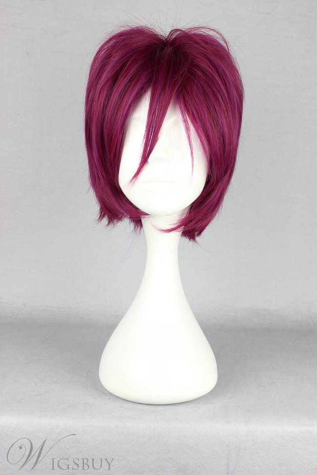Japanese Free Series Rin Matsuoka Cosplay Wigs 12 Inches
