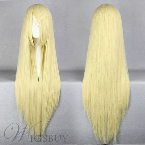Beautiful Eruda Hairstyle Long Straight Beige Cosplay Wig 30 Inches