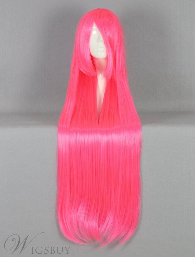 Long Straight Versatile Pink Cosplay Wig 30 Inches