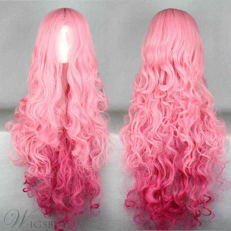 Japanese Fashionable Long Wave Cosplay Wigs 40 Inches