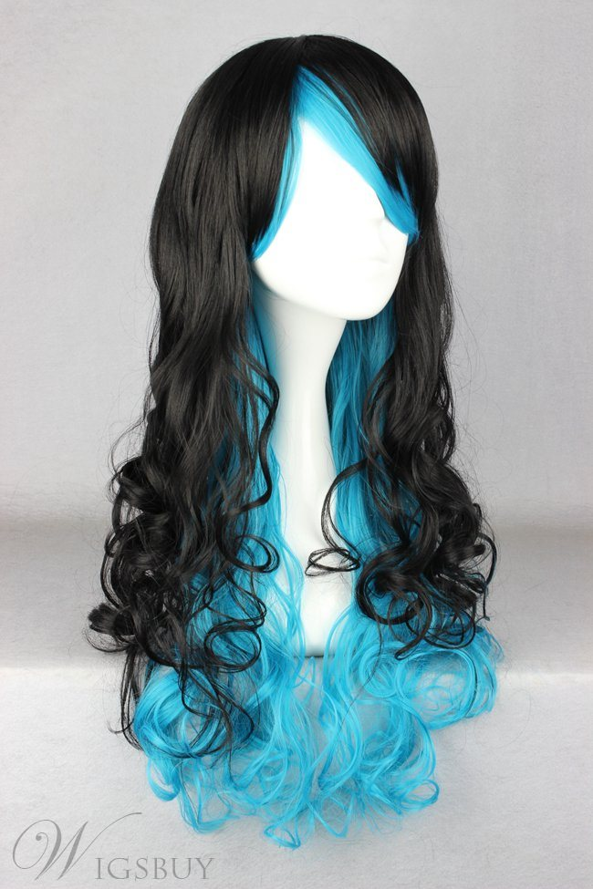 Japanese Lolita Style Gradient Color Black And Blue