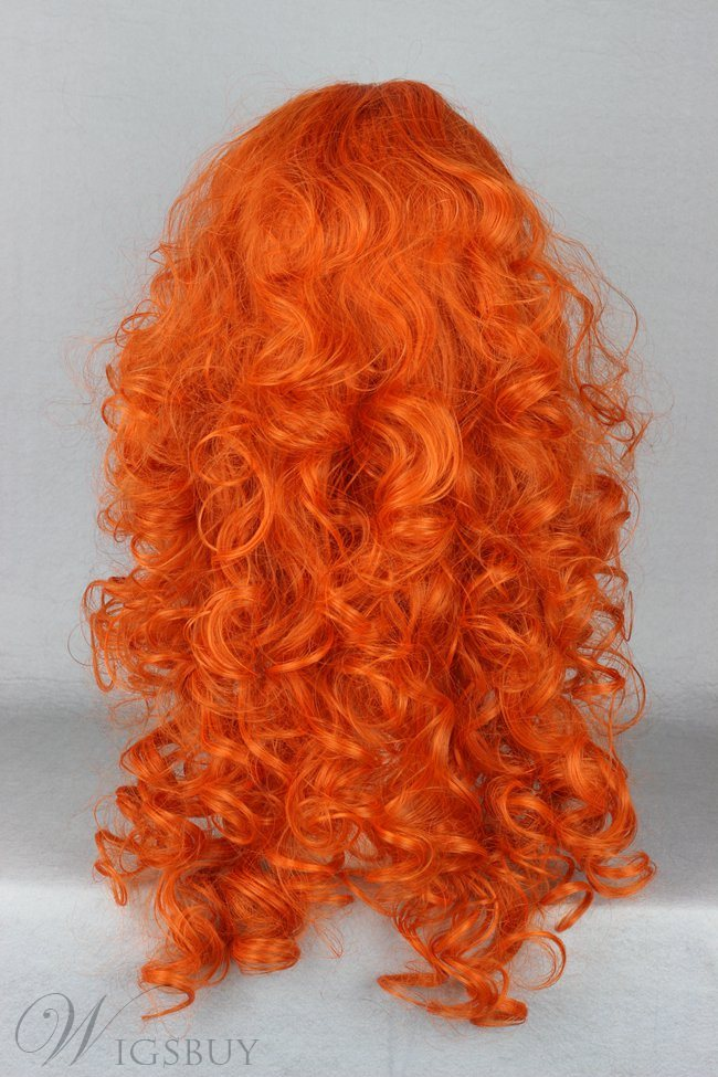 Japanese Brave Legend Merida Character Orange Cosplay Wigs