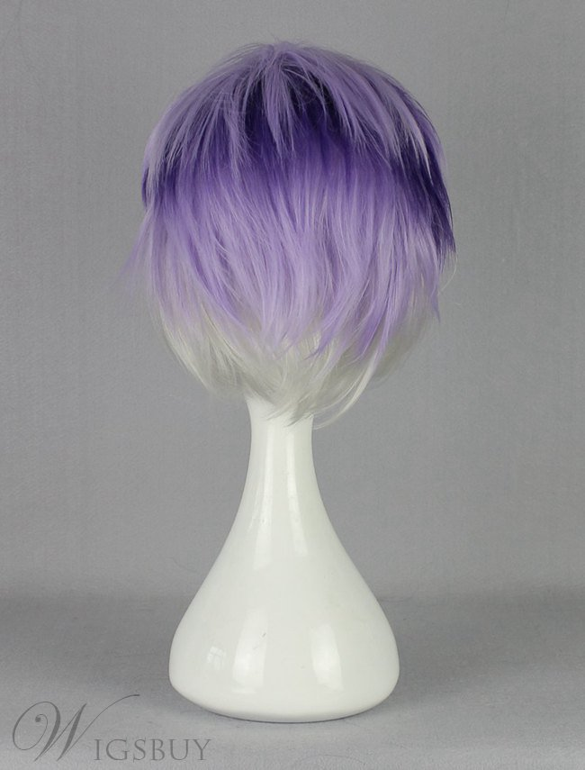 Diabolik Lovers Purple Silver Mixed Synthetic Hair Cosplay Wig