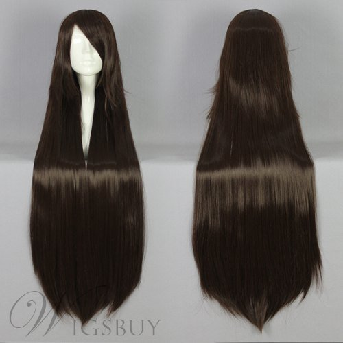 Long Straight Versatile Synthetic Cosplay Wig 30 Inches