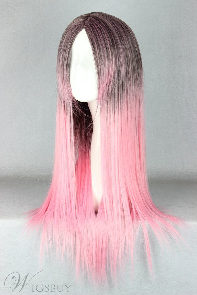 Japanese Lolita Style Gradient Color Cosplay Wigs 26 Inches