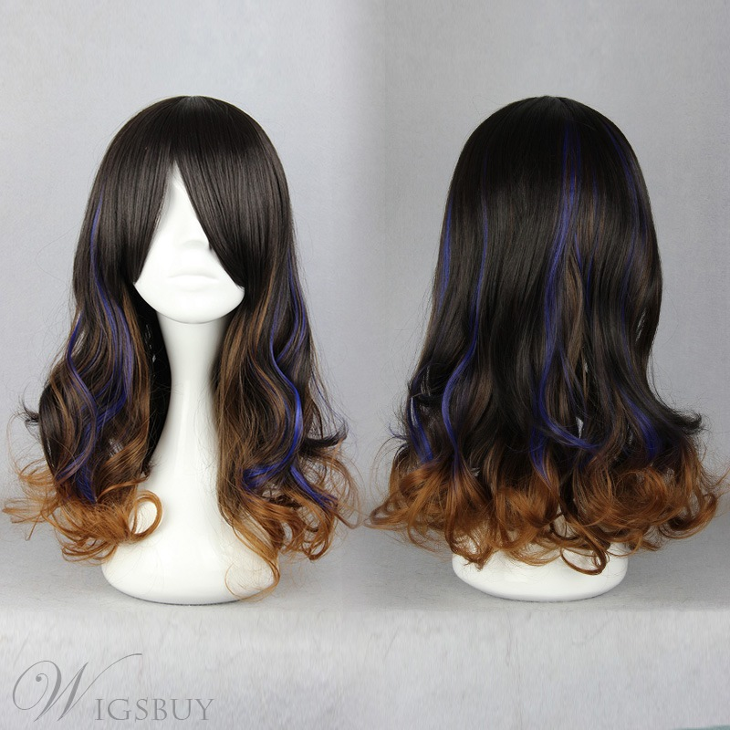 Japanese Lolita Style Gradient Color Cosplay Wigs 19 inches