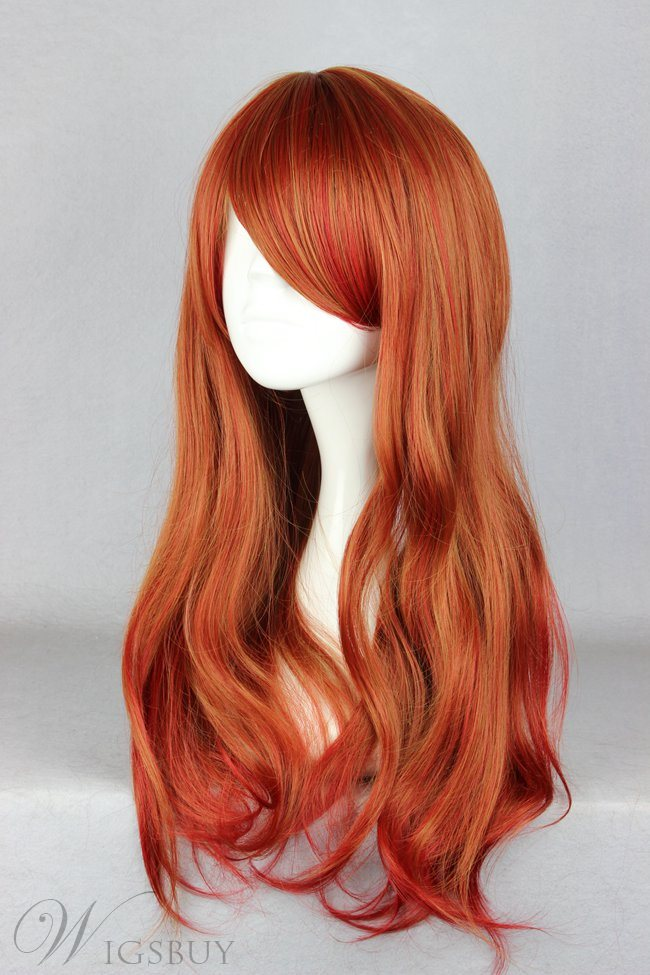 Japanese Lolita Style Gradient Color Brown Cosplay Wigs 26