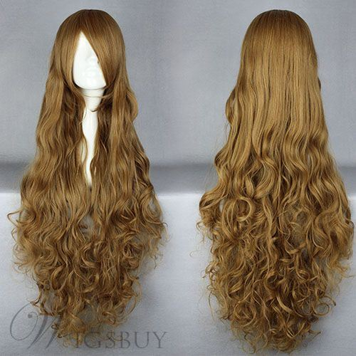 Super Long Curly Synthetic Hair Cosplay Wigs 36 Inches