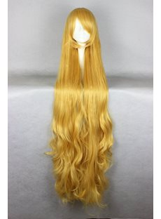 Japanese Gosick Vidolega de Blova Yellow Color Cosplay Wigs 56 Inches