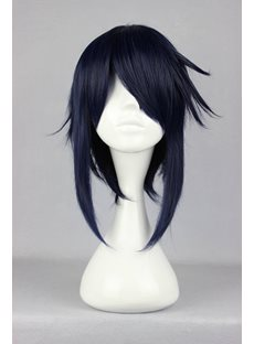 K Munakata Reiji Hairstyle Blue Synthetic Hair Cosplay Wig 16 Inches
