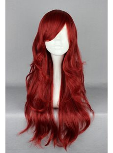 Japanese Lolita Style Wine Red Color Cosplay Wigs 26 Inches