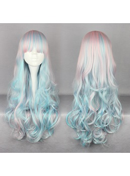 Japanese Lolita Style Big Wave Mixed Color Cosplay Wigs 26 Inches