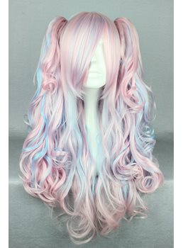 New Arrival Long Deep Wave Mixed Color Cosplay Wig 26 Inches