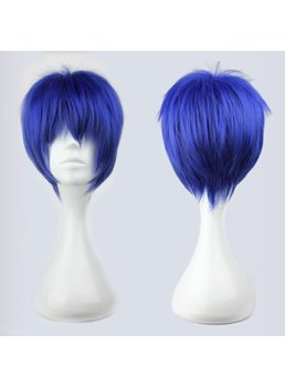 Arcana Famiglia Nova Hairstyle Short Straight Ombre Blue Synthetic Hair Cosplay Wig