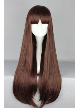 Japanese Lolita Style Long Straight Brown Color Cosplay Wigs 28 Inches