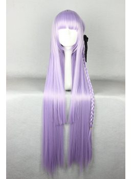 Japanese Dangan-Ronpa Series Kirigiri Kyouko Light Purple Color Cosplay Wigs 40 Inches