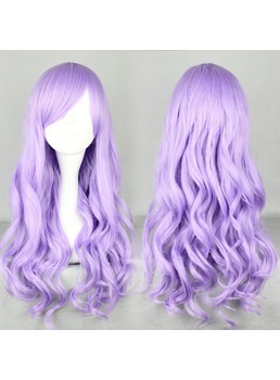Japanese Lolita Style Long Wave Purple Color Cosplay Wigs 28 Inches