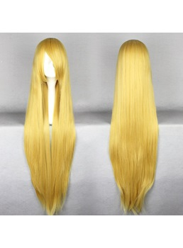Eruda Hairstyle Long Straight Golden Cosplay Wig 30 Inches